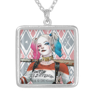 Suicide Squad | Harley Quinn Square Pendant Necklace