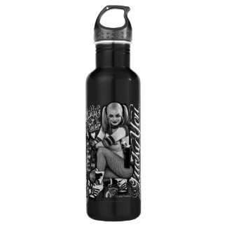 Suicide Squad | Harley Quinn Typography Photo 710 Ml Water Bottle