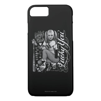 Suicide Squad | Harley Quinn Typography Photo iPhone 8/7 Case