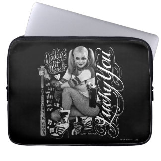 Suicide Squad | Harley Quinn Typography Photo Laptop Sleeve
