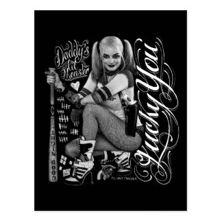 Suicide Squad | Harley Quinn Typography Photo Postcard