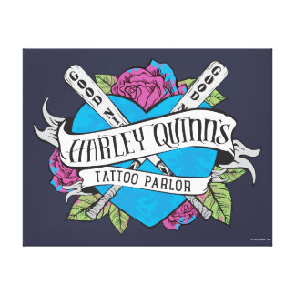 Suicide Squad | Harley Quinn's Tattoo Parlor Heart Canvas Print