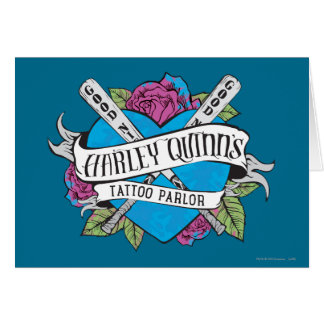 Suicide Squad   Harley Quinn's Tattoo Parlor Heart Card