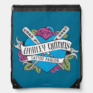 Suicide Squad | Harley Quinn's Tattoo Parlor Heart Drawstring Bag
