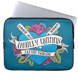 Suicide Squad | Harley Quinn's Tattoo Parlor Heart Laptop Sleeve