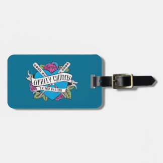Suicide Squad | Harley Quinn's Tattoo Parlor Heart Luggage Tag