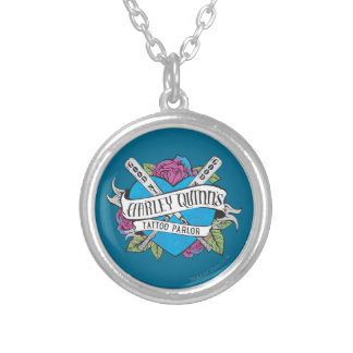 Suicide Squad   Harley Quinn's Tattoo Parlor Heart Silver Plated Necklace