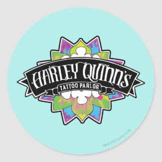 Suicide Squad | Harley Quinn's Tattoo Parlor Lotus Round Sticker
