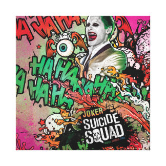 Suicide Squad | Joker Character Graffiti Canvas Print