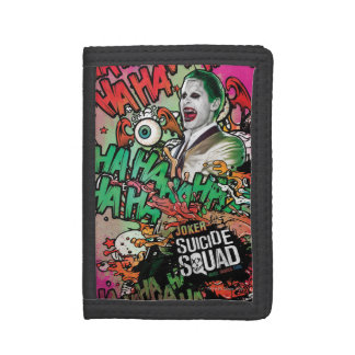Suicide Squad | Joker Character Graffiti Trifold Wallets