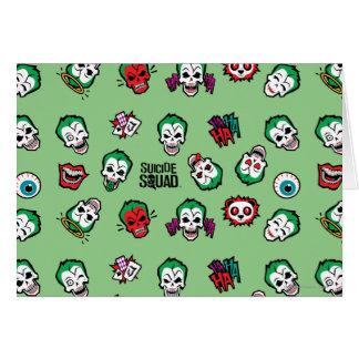 Suicide Squad   Joker Emoji Pattern Card
