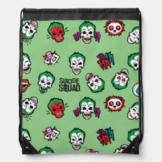 Suicide Squad | Joker Emoji Pattern Drawstring Bag