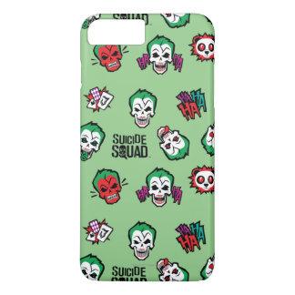 Suicide Squad   Joker Emoji Pattern iPhone 8 Plus/7 Plus Case