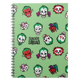 Suicide Squad | Joker Emoji Pattern Spiral Notebook