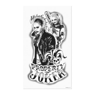 Suicide Squad | Joker & Harley Airbrush Tattoo Canvas Print