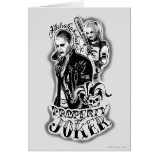 Suicide Squad | Joker & Harley Airbrush Tattoo Card