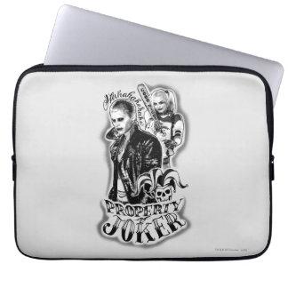 Suicide Squad | Joker & Harley Airbrush Tattoo Laptop Sleeve