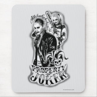 Suicide Squad | Joker & Harley Airbrush Tattoo Mouse Mat