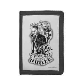 Suicide Squad | Joker & Harley Airbrush Tattoo Tri-fold Wallet