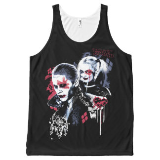 Suicide Squad | Joker & Harley Painted Graffiti All-Over Print Tank Top