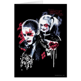Suicide Squad | Joker & Harley Painted Graffiti Greeting Card