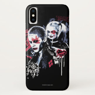 Suicide Squad | Joker & Harley Painted Graffiti iPhone X Case