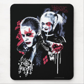 Suicide Squad | Joker & Harley Painted Graffiti Mouse Mat