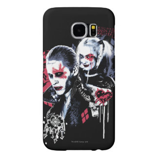 Suicide Squad | Joker & Harley Painted Graffiti Samsung Galaxy S6 Cases