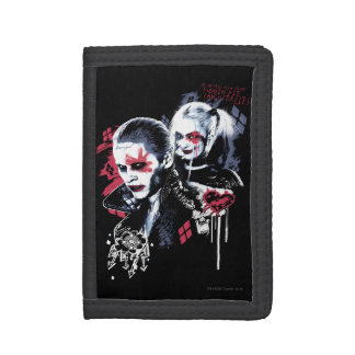 Suicide Squad | Joker & Harley Painted Graffiti Trifold Wallet