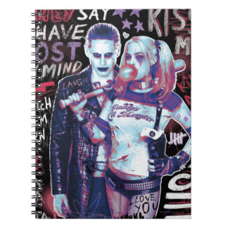 Suicide Squad   Joker & Harley Typography Photo Note Books