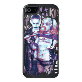 Suicide Squad | Joker & Harley Typography Photo OtterBox iPhone 5/5s/SE Case