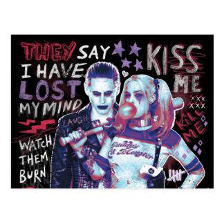 Suicide Squad | Joker & Harley Typography Photo Postcard