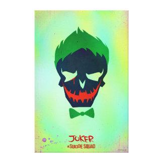 Suicide Squad | Joker Head Icon Canvas Print