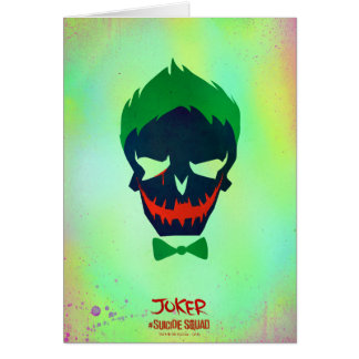 Suicide Squad | Joker Head Icon Greeting Card