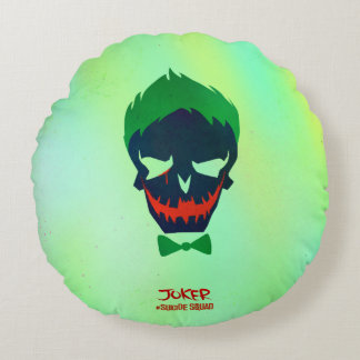 Suicide Squad | Joker Head Icon Round Cushion