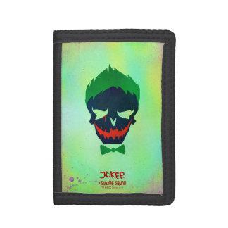 Suicide Squad | Joker Head Icon Tri-fold Wallets