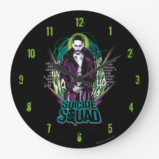 Suicide Squad | Joker Retro Rock Graphic Large Clock