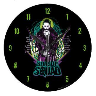 Suicide Squad | Joker Retro Rock Graphic Large Clock