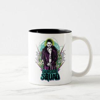 Suicide Squad | Joker Retro Rock Graphic Two-Tone Coffee Mug