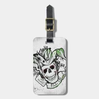 "Suicide Squad | Joker Skull ""All In"" Tattoo Art Bag Tag"