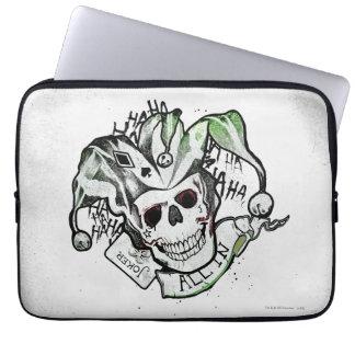 "Suicide Squad | Joker Skull ""All In"" Tattoo Art Laptop Sleeve"