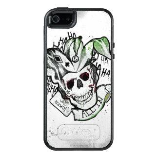 "Suicide Squad | Joker Skull ""All In"" Tattoo Art OtterBox iPhone 5/5s/SE Case"