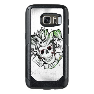 "Suicide Squad   Joker Skull ""All In"" Tattoo Art OtterBox Samsung Galaxy S7 Case"