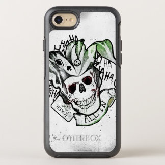 "Suicide Squad | Joker Skull ""All In"" Tattoo Art OtterBox Symmetry iPhone 8/7 Case"