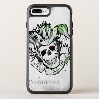 "Suicide Squad | Joker Skull ""All In"" Tattoo Art OtterBox Symmetry iPhone 8 Plus/7 Plus Case"