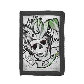 "Suicide Squad | Joker Skull ""All In"" Tattoo Art Trifold Wallet"