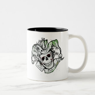 "Suicide Squad | Joker Skull ""All In"" Tattoo Art Two-Tone Coffee Mug"