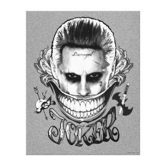 Suicide Squad   Joker Smile Canvas Print
