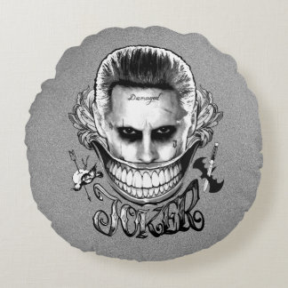 Suicide Squad | Joker Smile Round Cushion