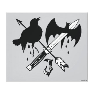 Suicide Squad   Joker Symbol Canvas Print
